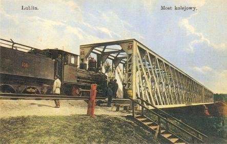 Most kolejowy 1910-1914
