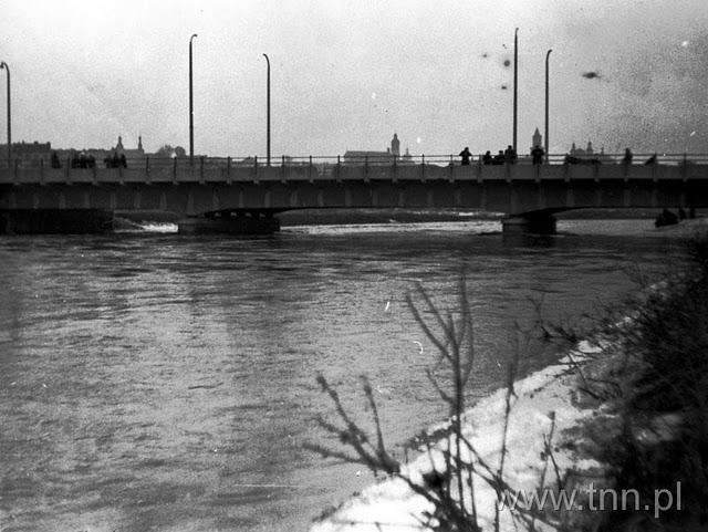 Most na Alei Piłsudskiego 1947