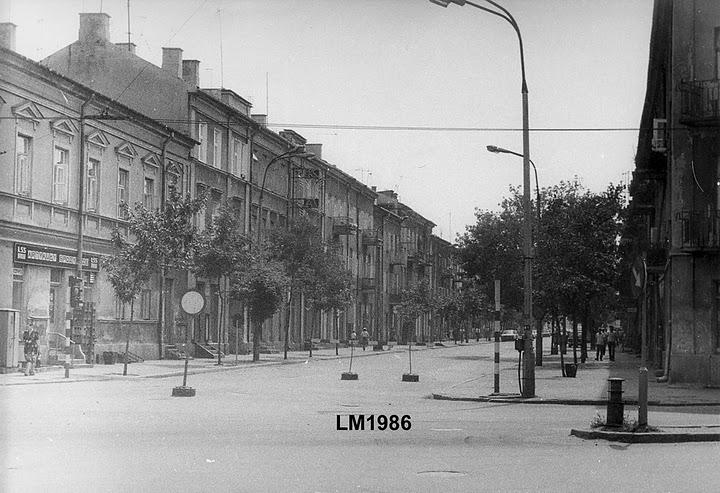 Ulica 1-go Maja w latach 80-tych b