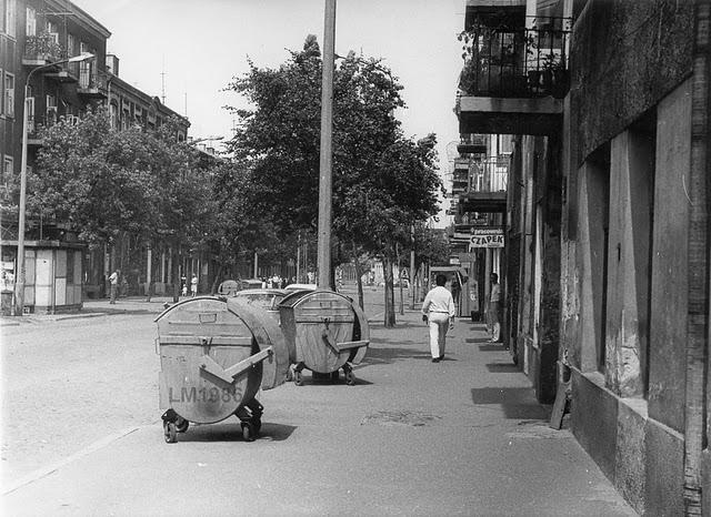 Ulica 1-go Maja w latach 80-tych d