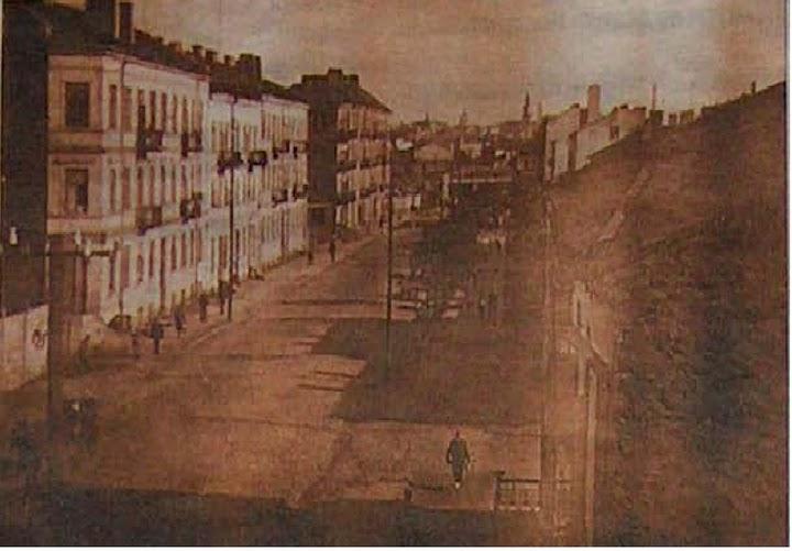 dawna ulica bychawska ( obecnie kunickiego ) fotka wykonana w 1917 roku z kamienicy nr 50