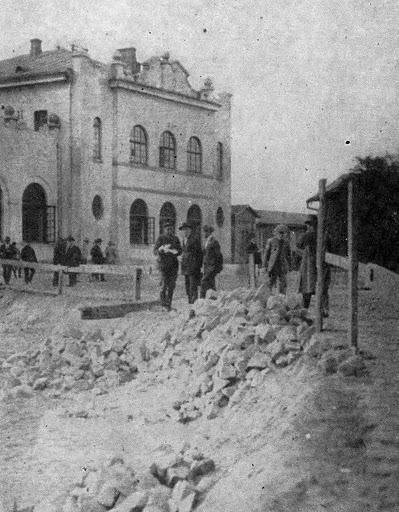 niwelacja placu dworcowego 1927