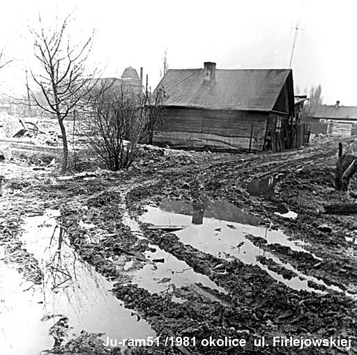 ul leczynska, okolice firlejowska 1981