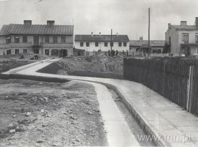 ul. Przesmyk po uregulowaniu, okolo 1938
